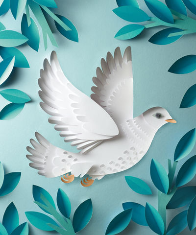 Peace Dove for the cover of VW Autostadt Magazine