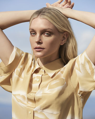 ANDREAS ORTNER for HARPERS BAZAAR CZ with Topmodel Jessica Stam