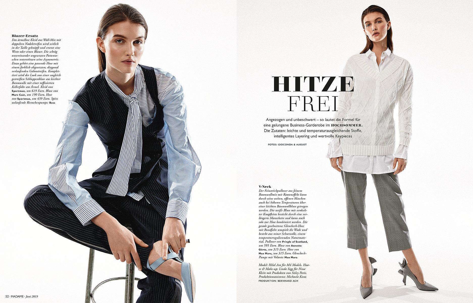 Linda Sigg /co NINA KLEIN for Madame Magazine