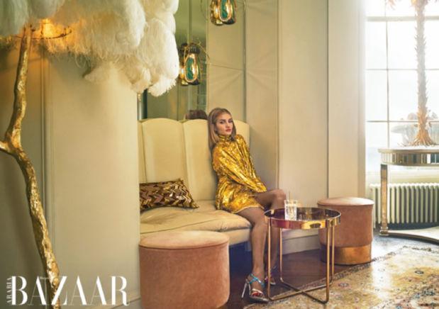 Rosie Huntington Whiteley for HARPER'S BAZAAR ARABIA, Hair : Olivier Schawalder  c/o les ARTISTS by Josef Stockinger
