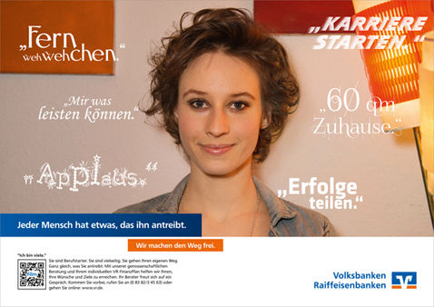 BASICS : Soraya HINSCH for VOLKSBANKEN RAIFFEISENBANKEN