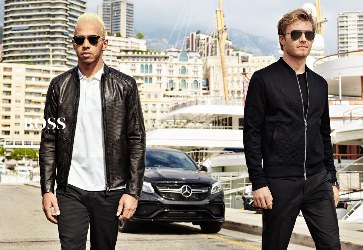 HUNTER & GATTI : HUGO BOSS MERCEDES COLLECTION with LEWIS HAMILTON & NICO ROSBERG