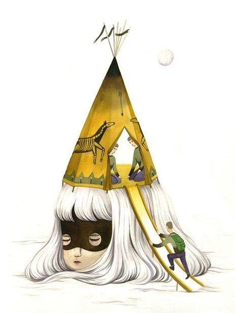 "COSMOPOLA    Illustration Artist Andrea Wan - ""Fakelore"" Series, 2013"