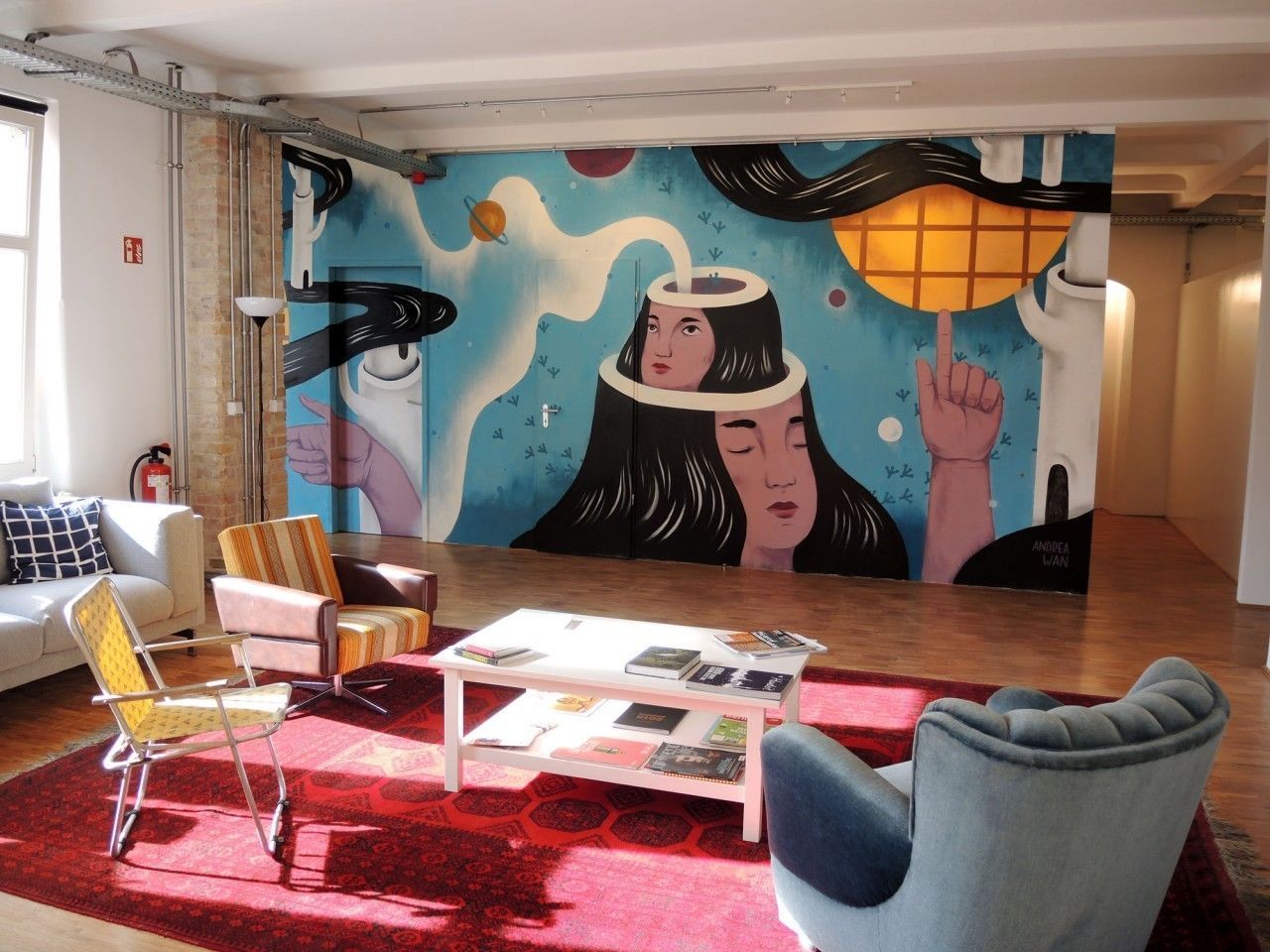 COSMOPOLA    Illustration Artist Andrea Wan - Infosys Mural, Berlin
