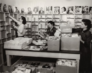 GLAMOUR OF THE GODS : Press room at Metro-Goldwyn-Mayer by unidentified Photographer (National Portrait Gallery)
