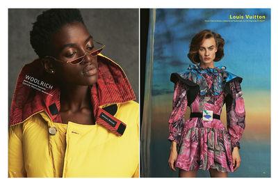 NINA KLEIN, Make up Linda sigg, Grazia Big Fashion Issue