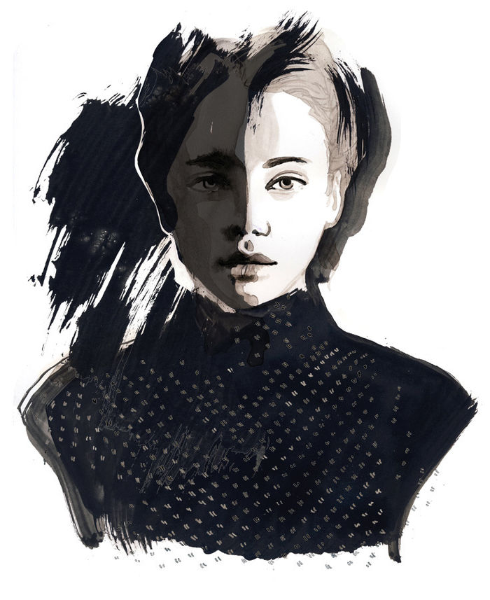 """IRENE SACKMANN, personal project """"ink girls"""""""