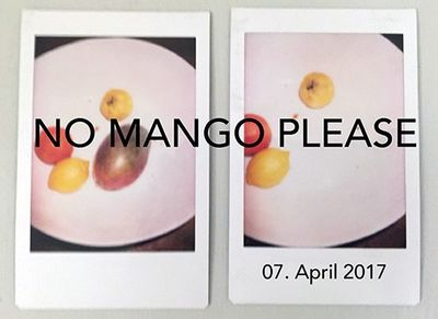 JULIA WALDMANN : NO MANGO PLEASE