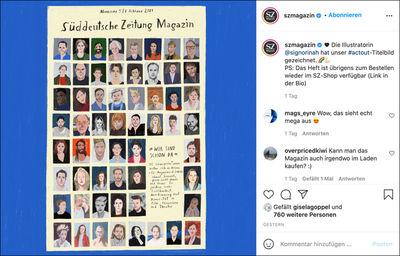 RINAH LANG c/o 2AGENTEN for SZ MAGAZINE, INSTAGRAM POST