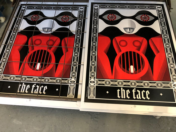 ©2018 Balbusso Twins The Face - The Wall  - The Blood - The Mask  limited edition screen prints