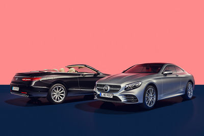 MARC AND DAVID : Editorial shooting for the Mercedes-Benz Magazin showing the new 'Traumpaar' S-Klasse Coupé and Cabriolet.