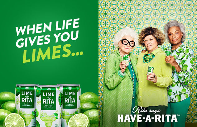 """Emily Shur c/o GIANT ARTISTS photographed the """"Have-A-Rita"""" campaign for Budweiser's margarita-flavored malt beverage Lime-A-Rita"""