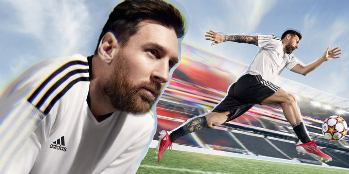 Lionel Messi photographed by Carles Carabi for Adidas Speedflow
