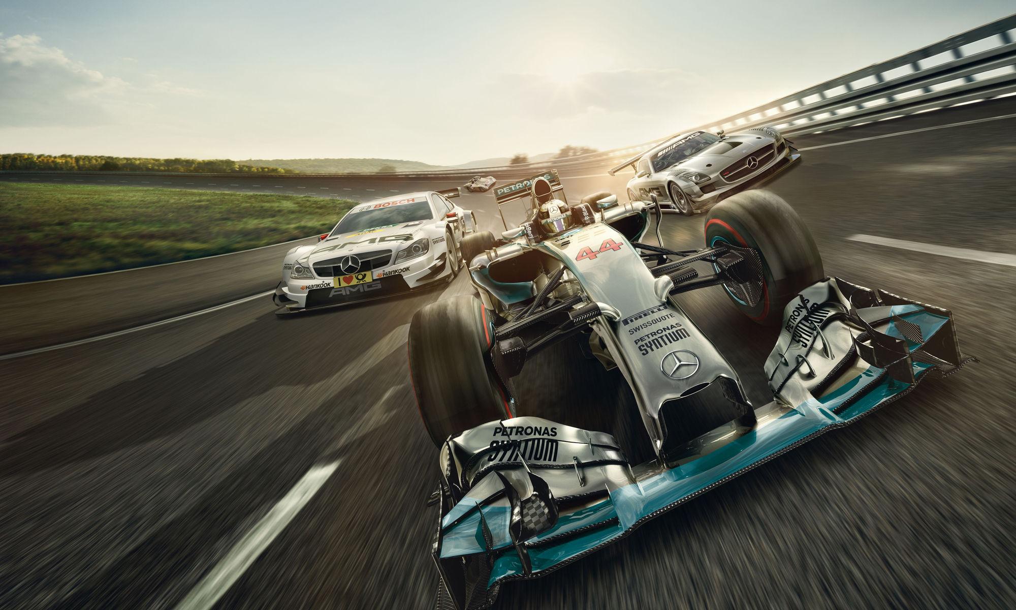 RECOM CGI : Mercedes - F1 - Groupshot