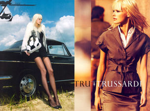 MUNICH MODELS : DEWI Driegen for TRUSSARDI