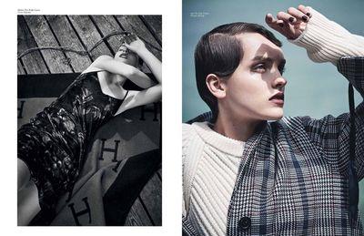 Julia Smigielska for ELLE Serbia shot by Oliver Beckmann