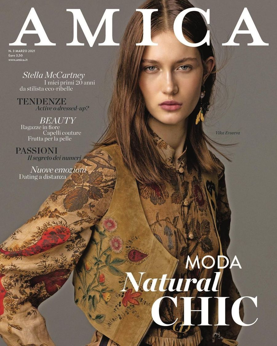 Vika Evseeva for Amica March 2021 ICONIC