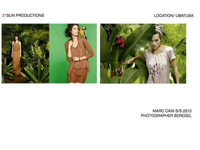 21 SUN PRODUCTIONS for MARC CAIN S/S 2013