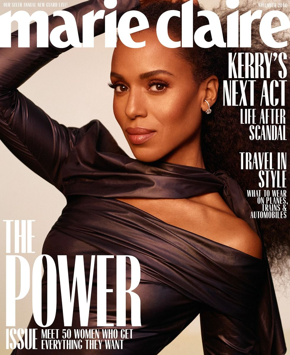 GLAM Production produced Cover Story for US Marie Claire feat Kerry Washington