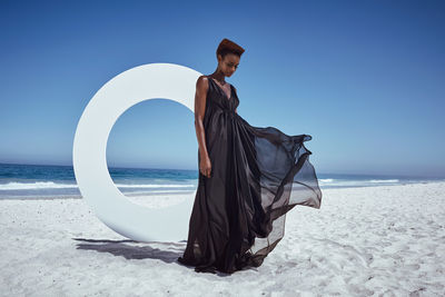 ASTRID M OBERT photographed an editorial with top model Aminat for Latest Magazine.