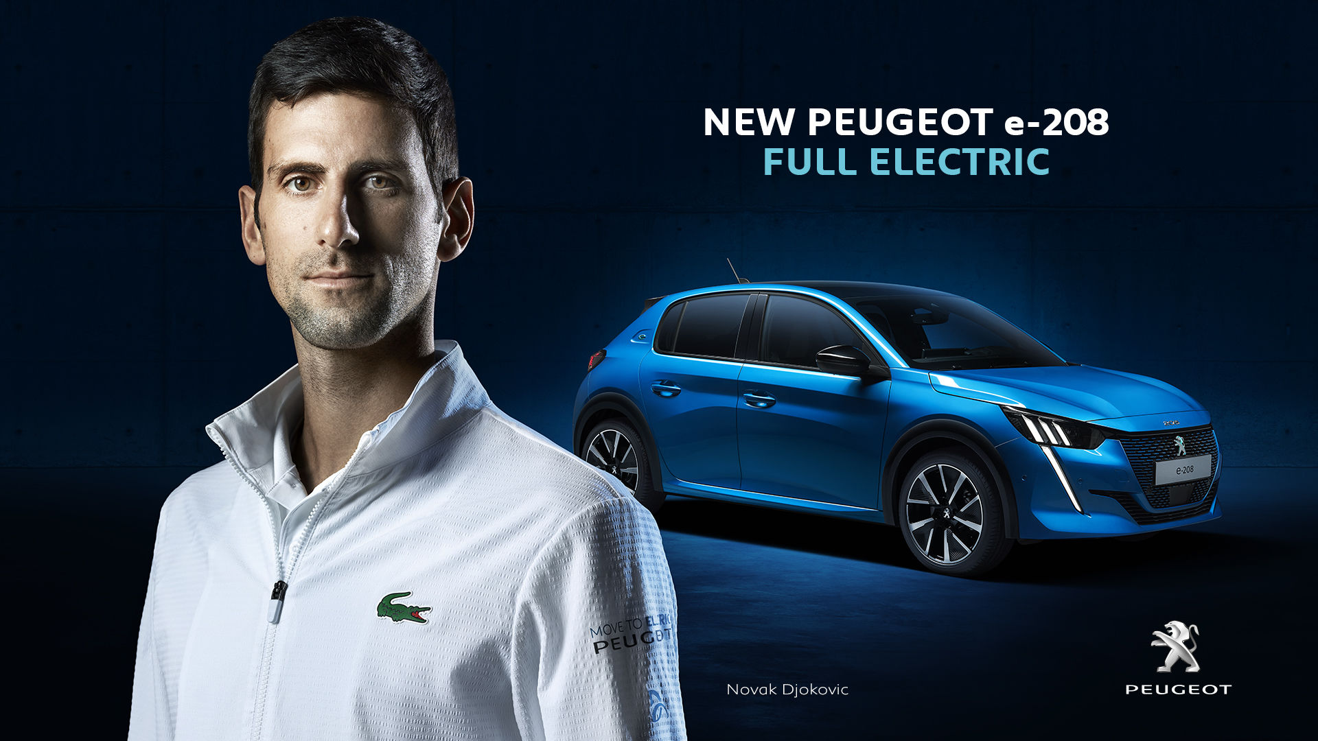 New Peugeot e-208 by William Crozes represented by ContiArt