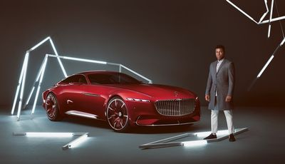 The new Vision Mercedes Maybach 6 with John Boyega for GQUK by MARC TRAUTMANN
