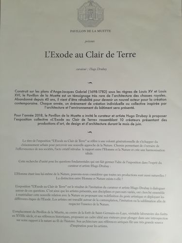 'L'Exode au Clair de Terre' - Vernissage at Pavillon de la Muette