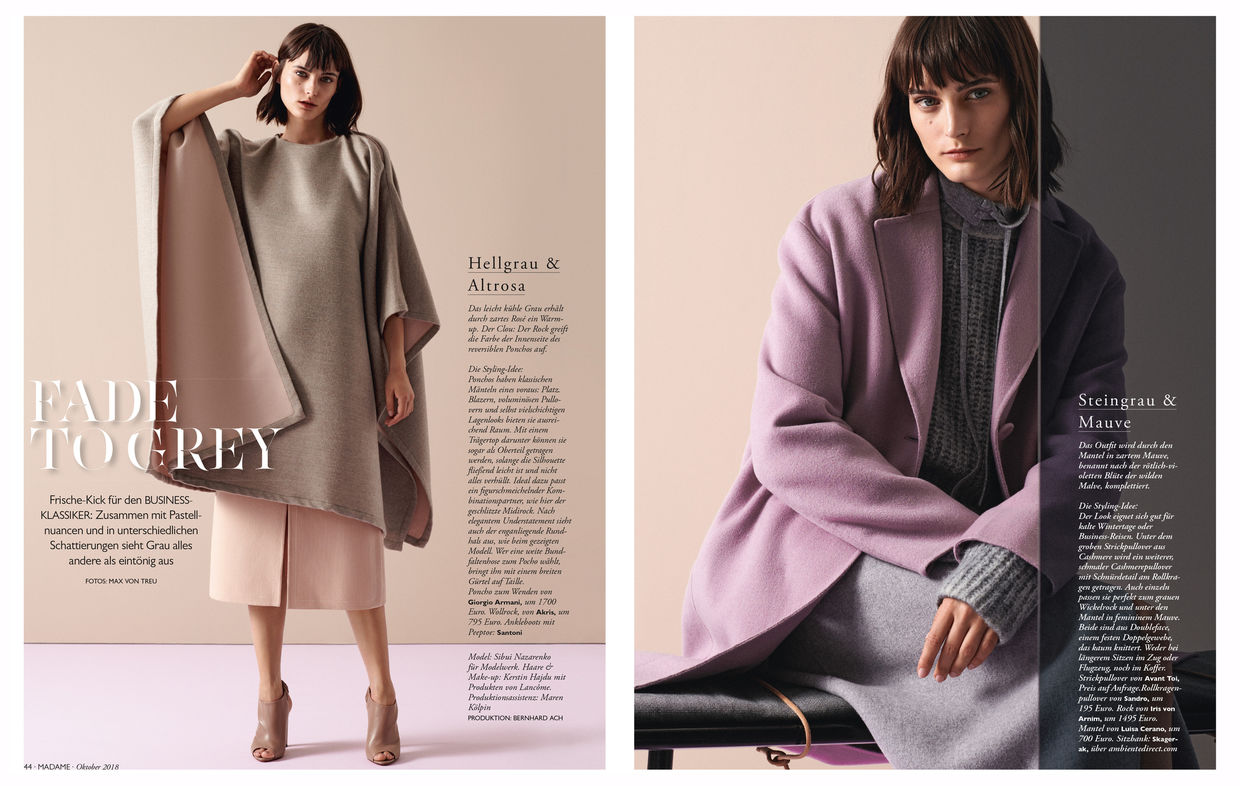 ff222f1975f8 Model Sibui in the editorials 'Fade to Gray' & 'Soft Sensation' for ...