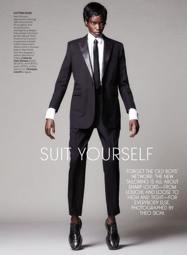 PRODUCTION PARIS / VOGUE US: SUIT YOURSELF