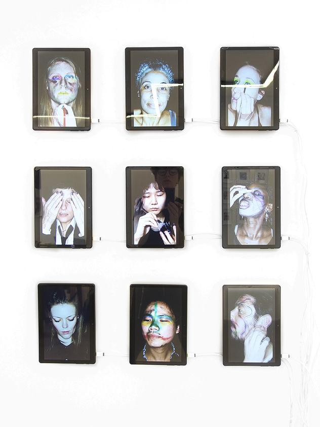 SUSANNE JUNKER ID-Identity project installation view, Laufer Art Galerie Belgrad.