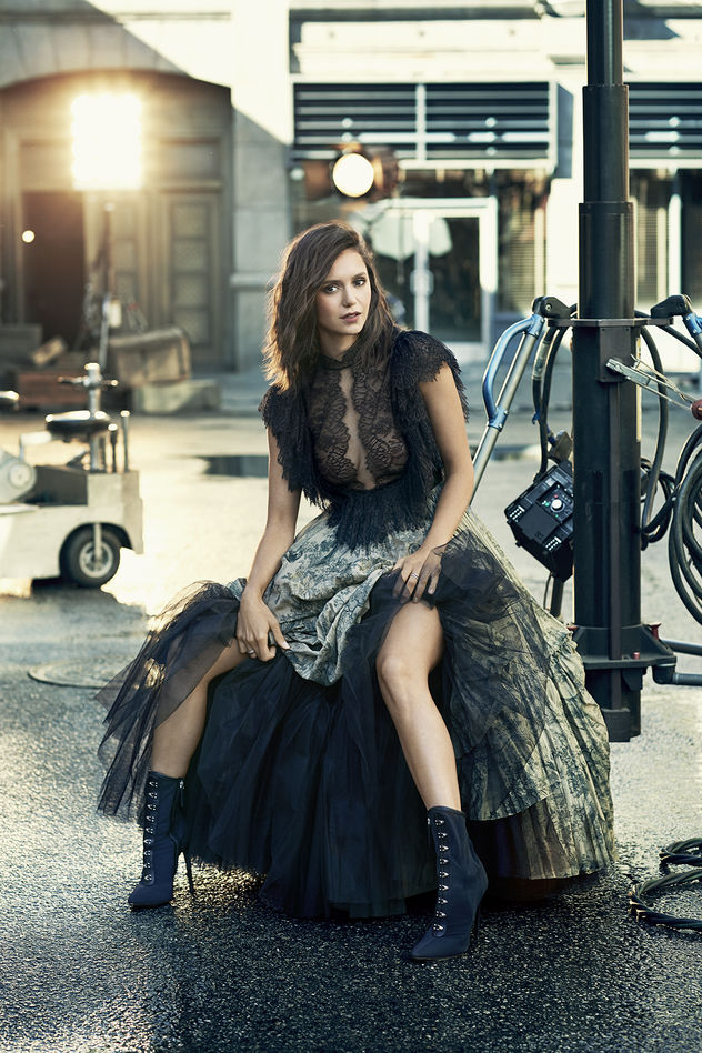 Nina Dobrev shot by Jason Kim for CBS Watch Magazine