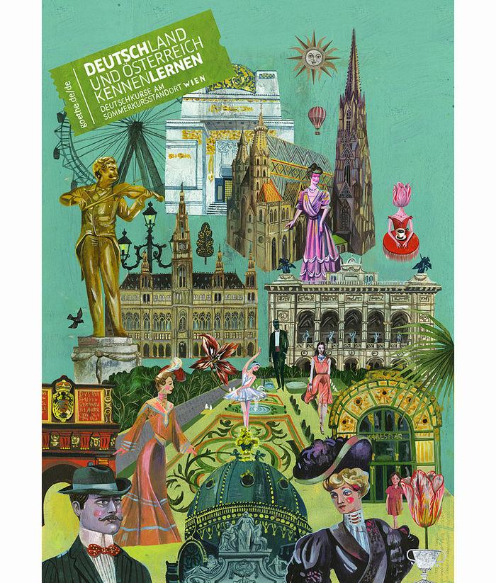 Olaf HAJEK c/o 2AGENTEN : Poster for Goethe Institut Wien