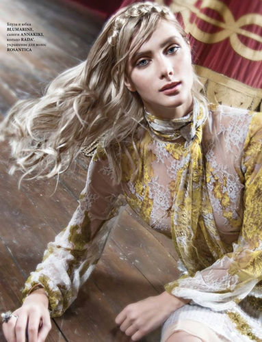 Nina Tatavitto for L'Officiel Latvia shot by Lis Costanzo