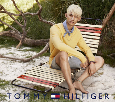 Hair & Make Up by Robyn Nissen for the new summer Tommy Hilfiger campaign shot by Ben Weller