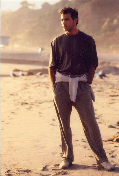 John d'Aquino in Giorgio Armani,Actor,Zuma Beach,L.A.