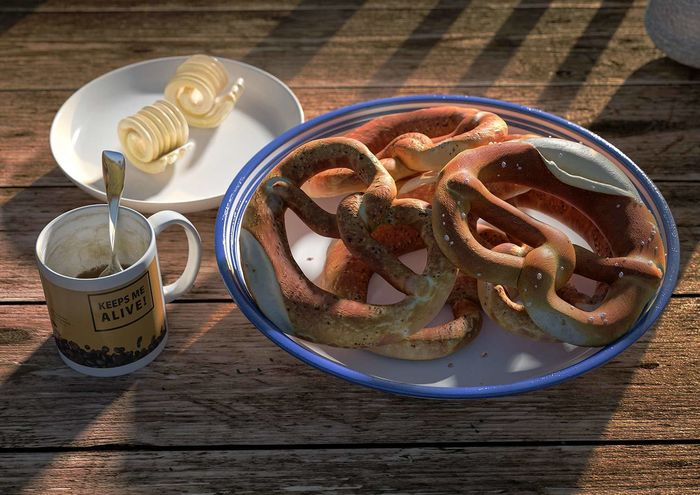 breakfast with pretzel - ralf kunstmann illustriert...