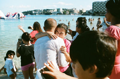 "Matthias Wehofsky, ""Hugs after Baptism"""