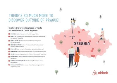Airbnb Prague Map by Tom FROESE c/o MAKING PICTURES ILLUSTRATION