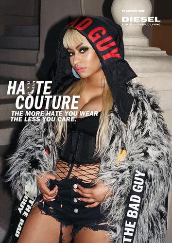 STINK: Photographer Vitali Gelwich shoots Nicki Minaj for Diesel Hate Couture