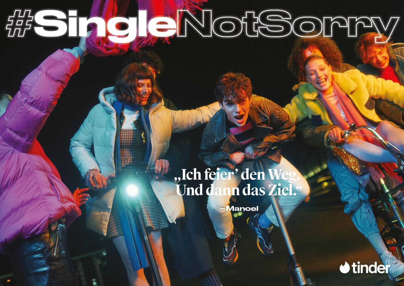 Ruben Riermeier für Tinder, Kampagne #SingleNotSorry