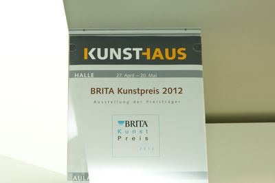 BRITA KUNSTPREIS 2012