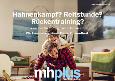 ROCKENFELLER & GöBELS: MH PLUS KRANKENVERSICHERUNG  CAMPAIGN BY MICHAEL HEINSEN