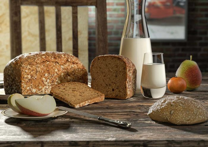 3D Model of a health bread  •  RALF KUNSTMANN ILLUSTRIERT...