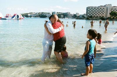 "Matthias Wehofsky, ""Hugs after Baptism"""