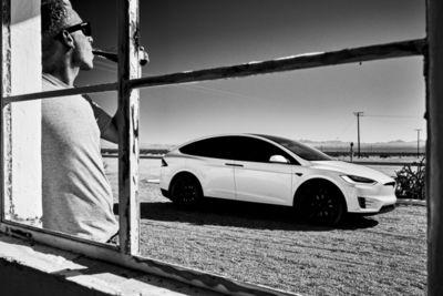 Shooting of the Tesla X in LA