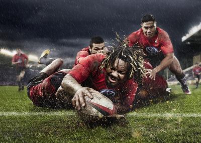 MARKUS MUELLER shootet Rugby-Stars für Volkswagen