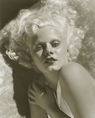 GLAMOUR OF THE GODS : Jean Harlow by George Hurrel, 1933 (National Portrait Gallery)