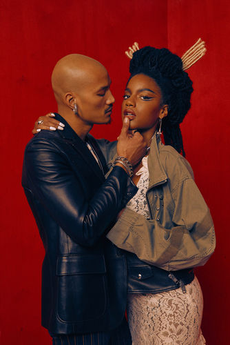 "Micaiah Carter c/o GIANT ARTISTS photographed a blazing fashion editorial entitled ""The Marriage"" for Paper Magazine"