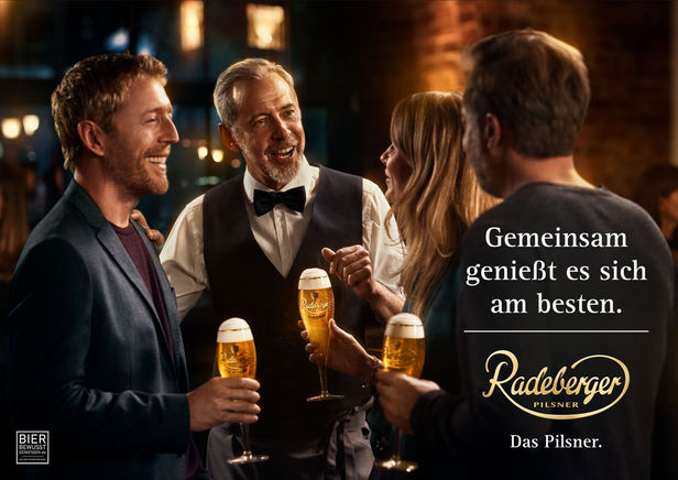 "SEVERIN WENDELER: Photography by ""Per Kasch c/o Severin Wendeler"" for Radeberger."