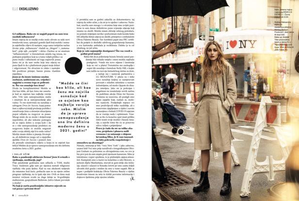 ALYSSA PIZER MANAGEMENT: Elle Croatia By Olivia Graham